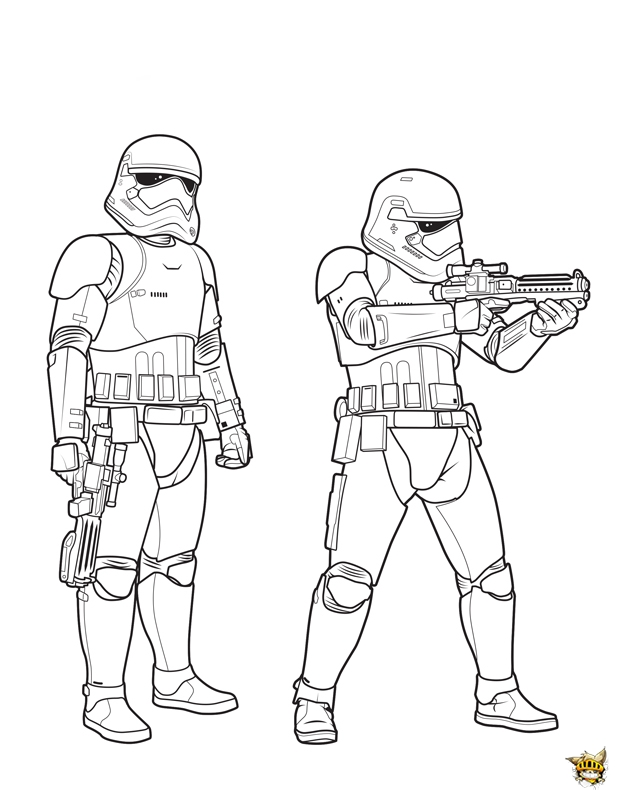 Stormtroopers est un coloriage de star wars - Coloriage star wars 3 ...