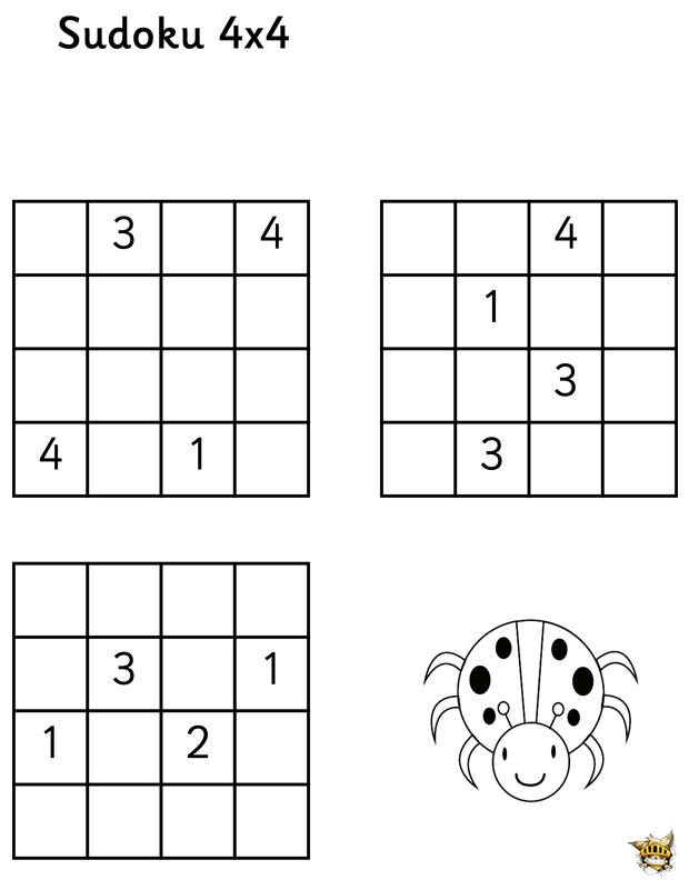 Fein Sudoku 4x4 Zum Ausdrucken Galerie - Ideen färben - blsbooks.com