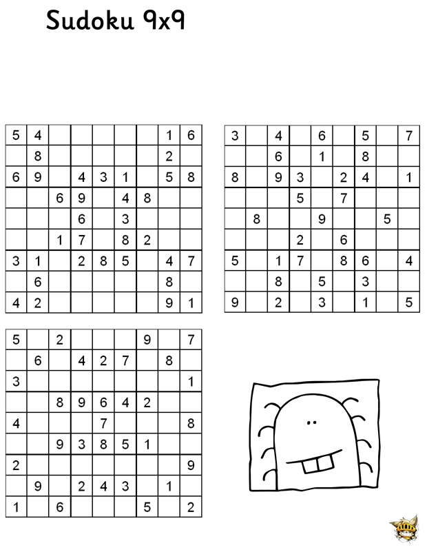 Sudoku 9x9 n 4 pour enfant imprimer for Sudoku facile da stampare