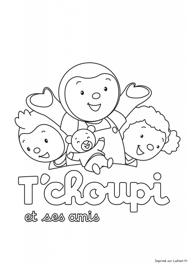 T 39 choupi et ses amis est un coloriage de t 39 choupi - Coloriage tchoupi et doudou ...