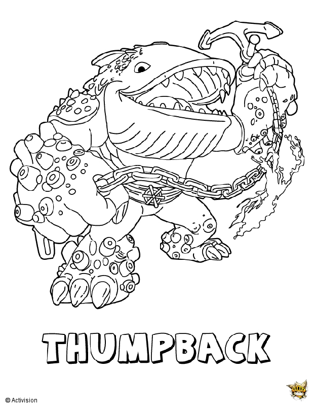 Thumpback est un coloriage de skylanders - Dessin de skylanders ...