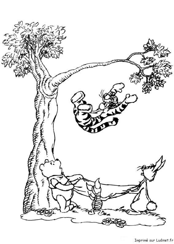 Efteling Sprookjes Kleurplaat Tigrou Tombe De L Arbre