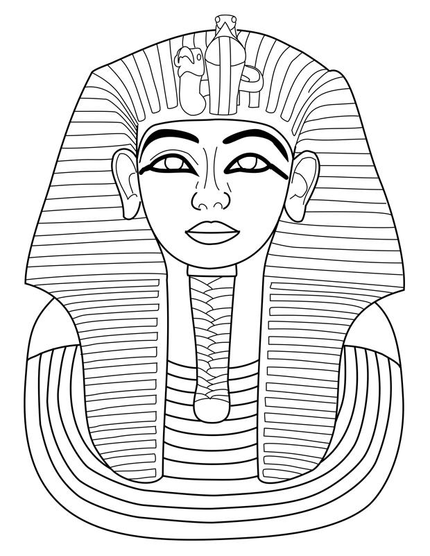 toutankhamon est un coloriage d u0026 39 egypte