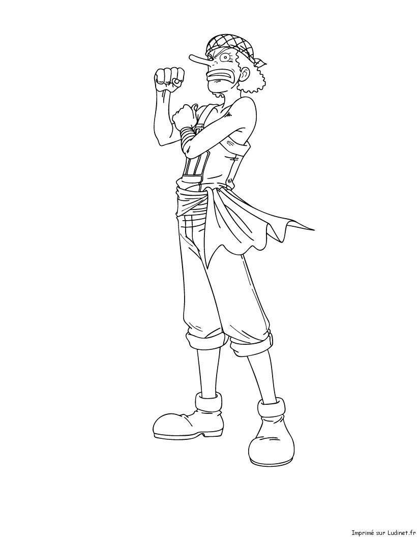 Usopp costaud est un coloriage de one piece - Coloriage one peace ...