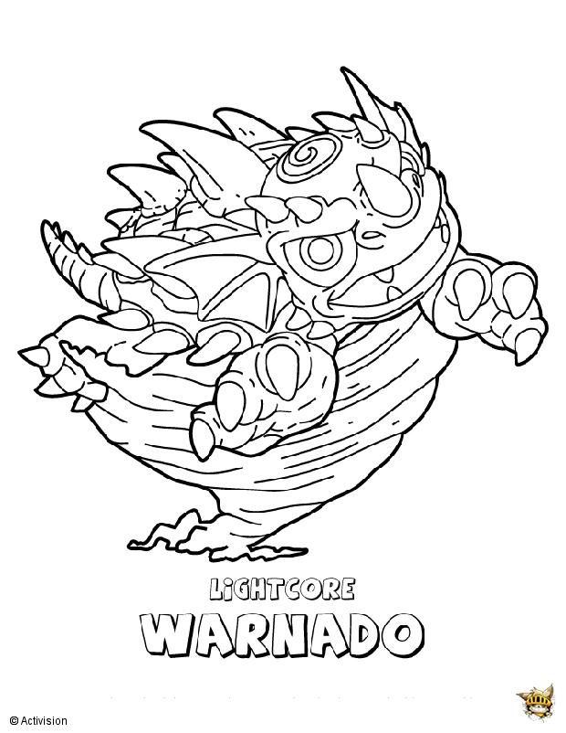 Warnado est un coloriage de skylanders - Coloriage skylanders giants ...