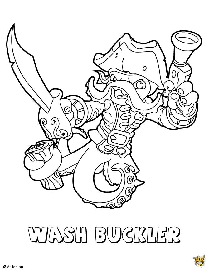 Wash buckler est un coloriage de skylanders - Skylanders dessin ...