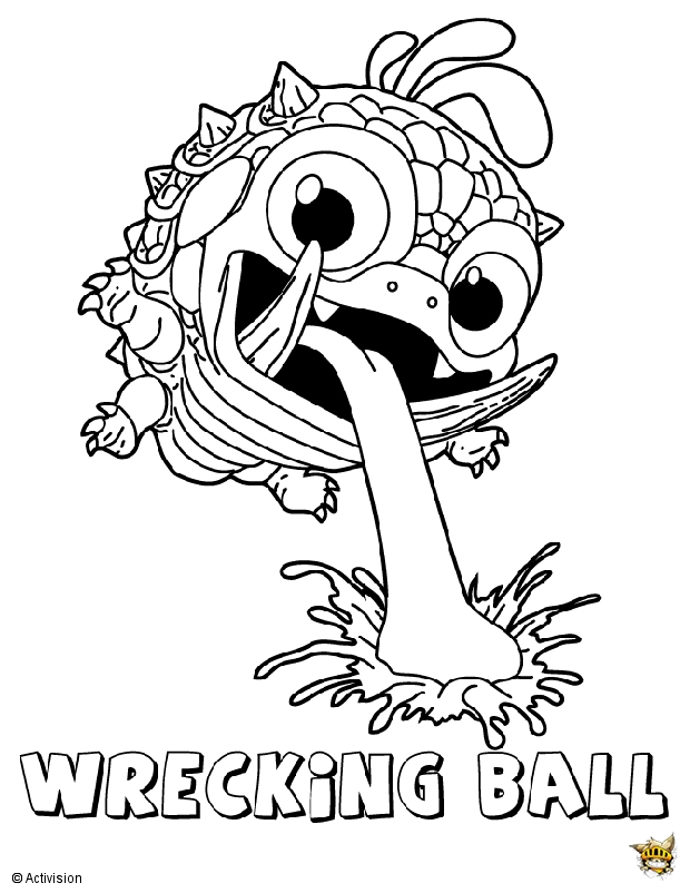 Wrecking ball est un coloriage de skylanders - Coloriage skylanders giants ...