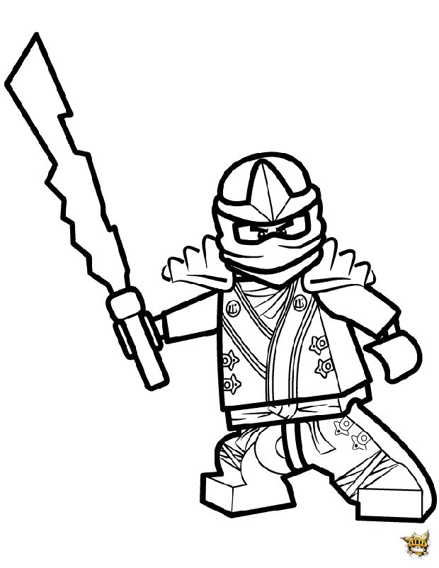 Coloriage ninjago jay coloriage pictures to pin on pinterest - Coloriage Ninja Attaque Avec Katana Pictures To Pin On