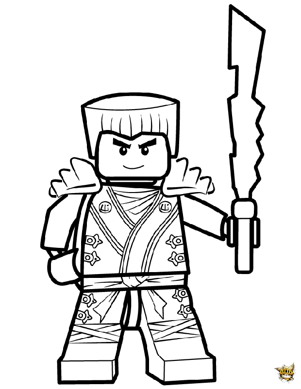 Ninjago Coloring Pages Jay Free Here