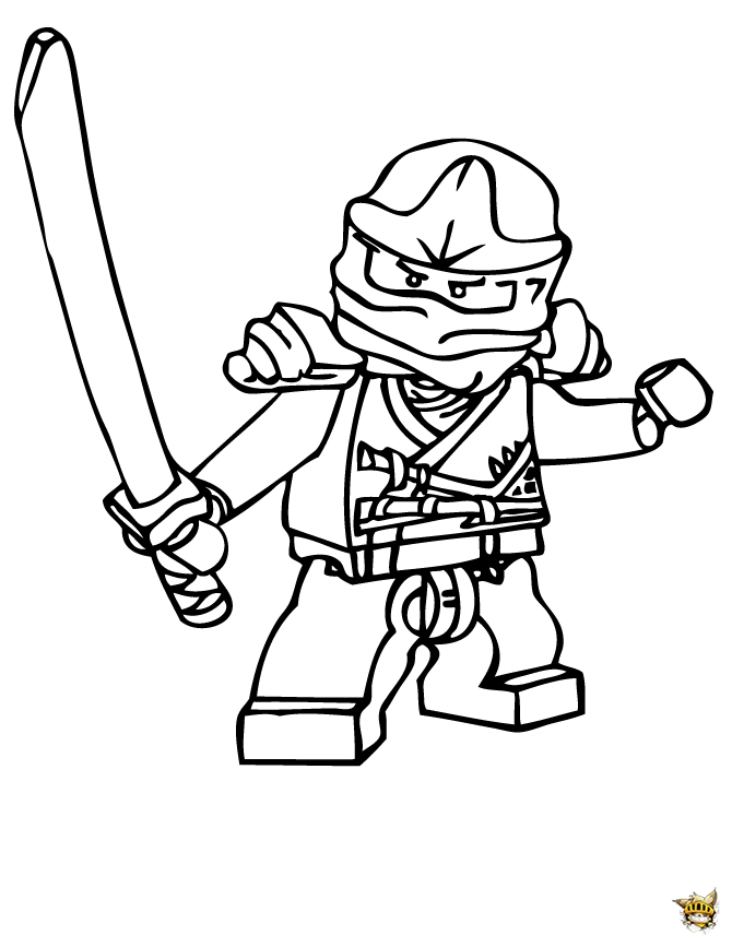Zane ninja est un coloriage de ninjago for Ninjago color pages