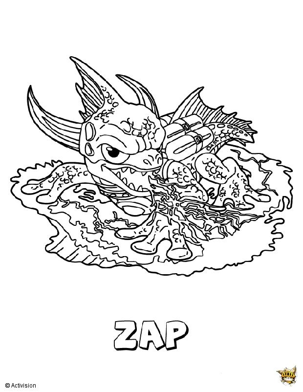 Zap est un coloriage de skylanders - Dessin de skylanders ...