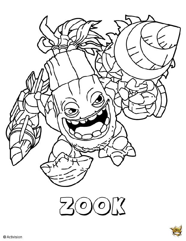 Zook est un coloriage de skylanders - Dessin de skylanders ...